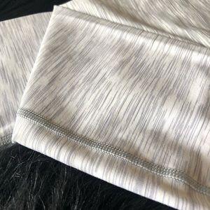 Size: 2. Lululemon. Grey and White Stripes. Pants.